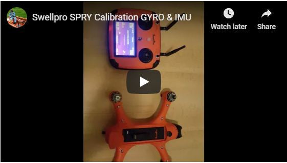 Swellpro Spry Calibration Gyro and IMU