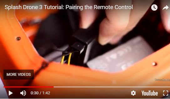 Correct Pairing of the Splash Drone 3 to the Remote Control
