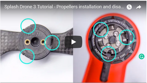 Propellers Installation and Disassembly-Splash Drone 3 Tutorial