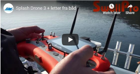 Splash Drone 3 plus take off from the Boat