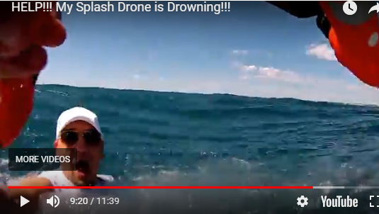 Splash Drone is Drowning