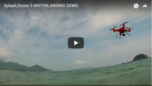 Splash Drone 3 Landing on Water