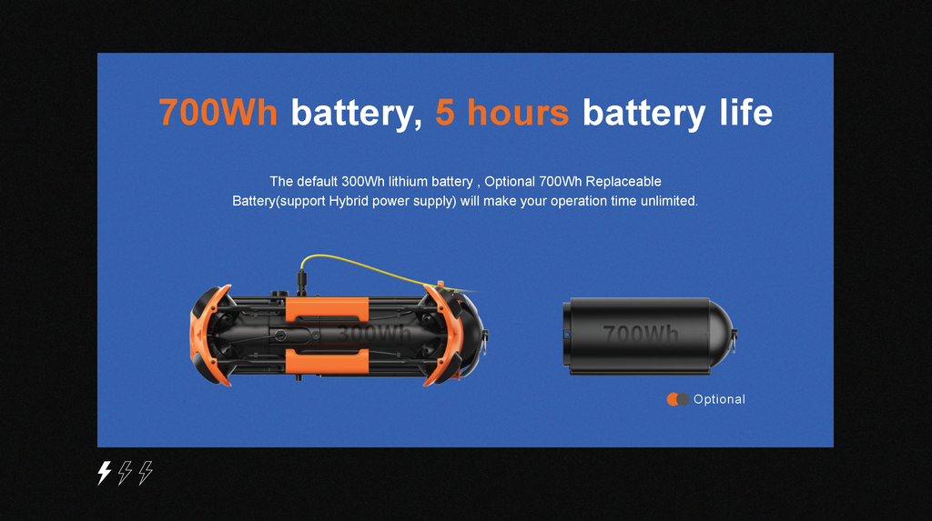 Underwater Rover Battery life