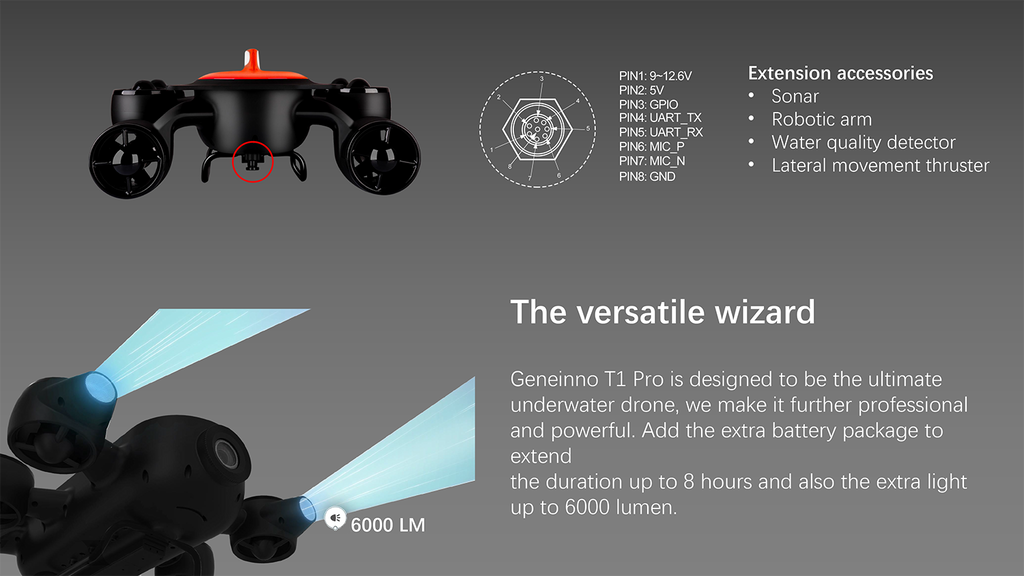 Geneinno T1 Underwater Drone Features