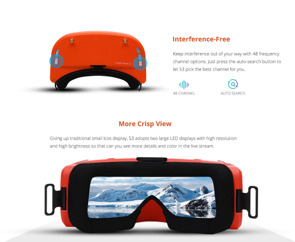 FPV Goggles for SwellPro Spry