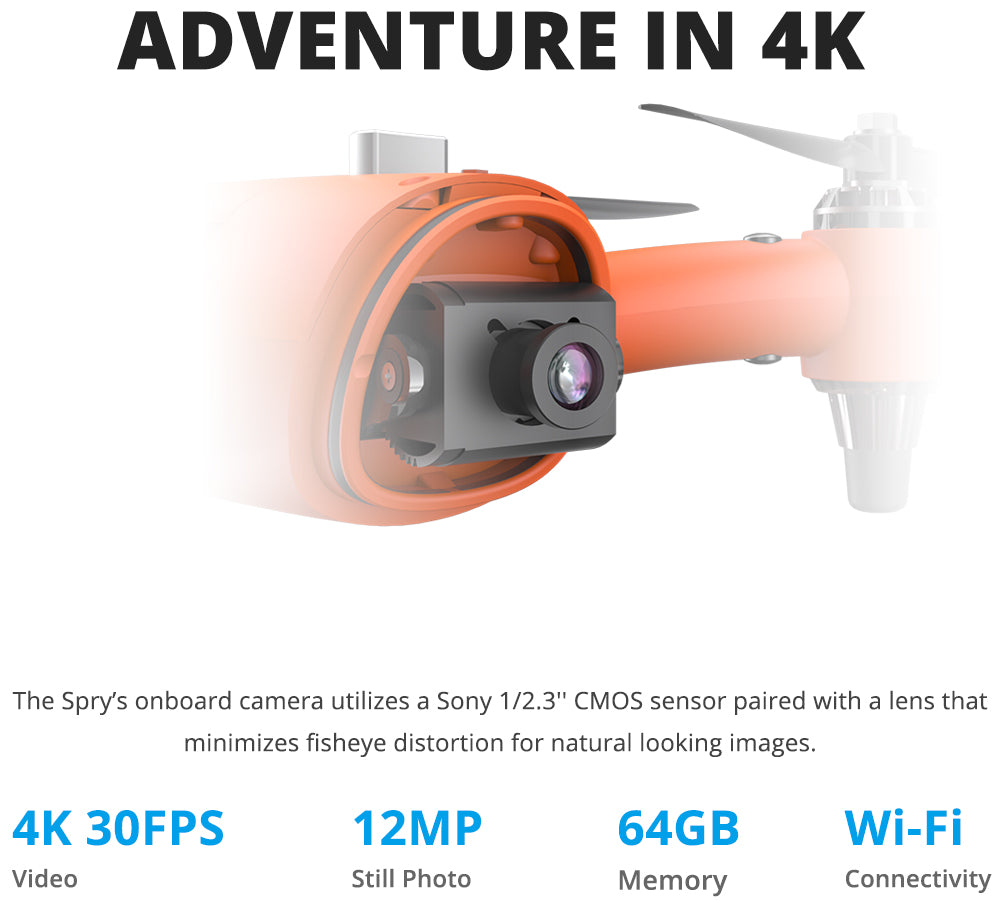 Swellpro Spry Plus 4k Camera