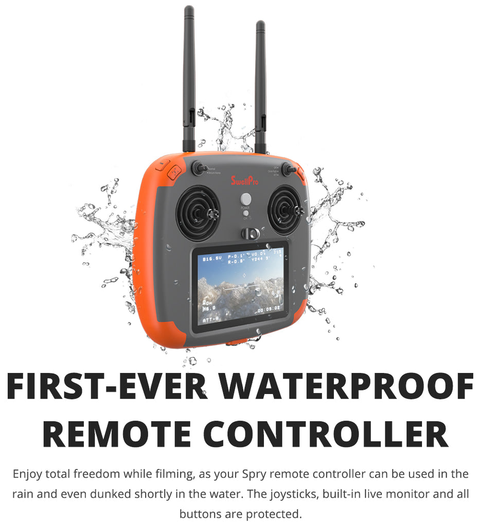 swellpro drone waterproof remote control