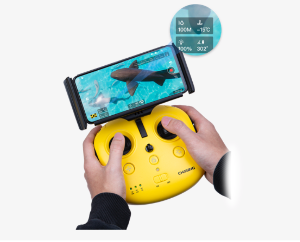 chasing m2 underwater remote control drone