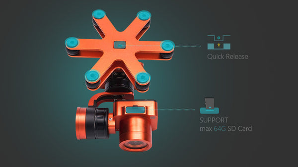 Splash Drone AUTO 3 Camera Gimbal Urban Drones