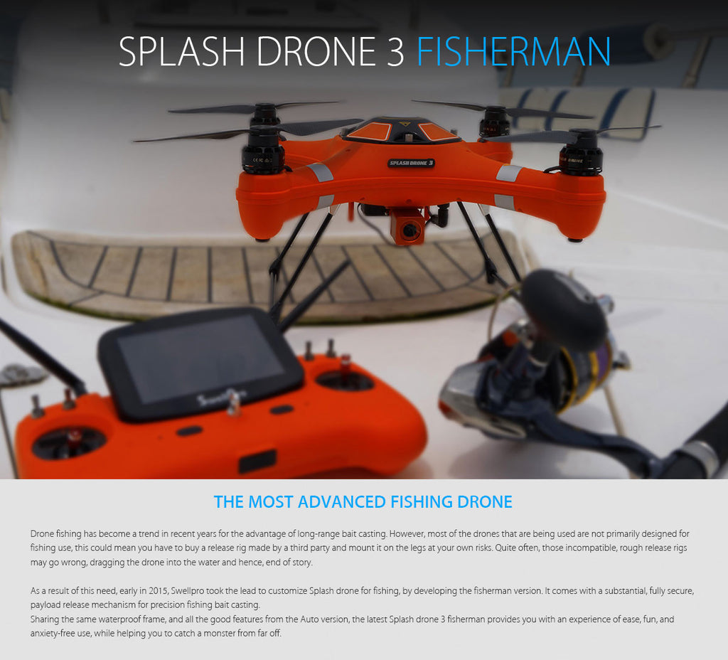 Splash Drone 3 Fisherman Waterproof Drone