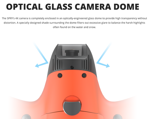 Swellpro Spry glass camera dome
