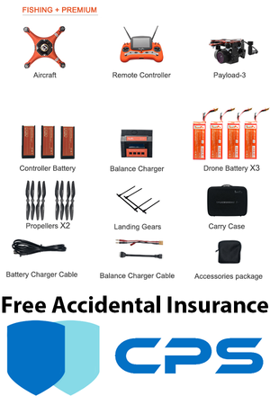Splash Drone 3 Plus Fishing Bundle Premium with FREE Insurance - Urban Drones