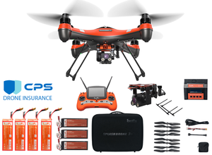 Splash Drone 3 Plus with PL4 Night Camera Fishing Bundle Premium with FREE Insurance - Urban Drones