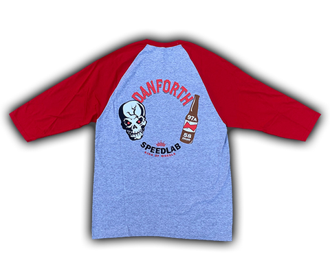 Raglan 3/4 sleeve T-Shirt 'Danforth' (Grey/Red)