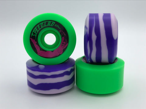*Limited Special* Mixed set of Bombshells 57mm/99A (2 green & 2 purple swirl)