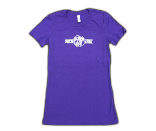 Ladies T-Shirt 'Wheel logo' (short sleeve/purple)
