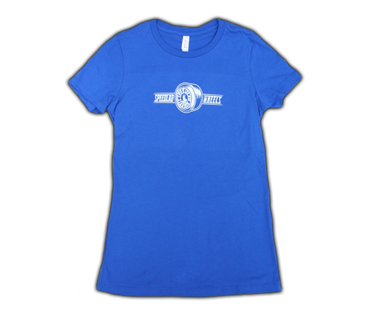 Ladies T-Shirt 'Wheel logo' (short sleeve/royal)