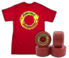 'Jeromy Green' COMBO - 'Jeromy Green' (short sleeve t-shirt) + Jeromy Green Pro model 59mm/99A