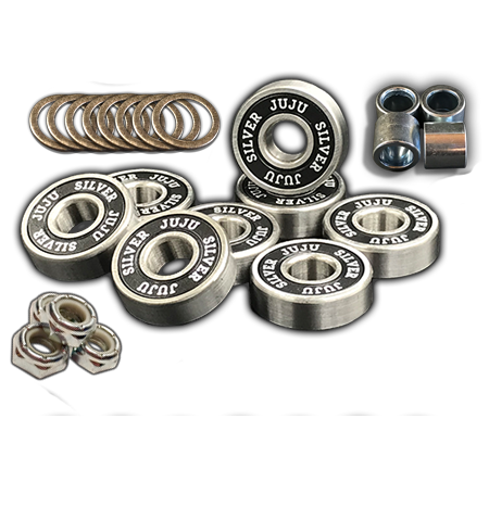 Juju Bearings Blessed Silver Axle-to-Axle Kit = Juju Bearings Blessed Silver + Speedlab Wheels