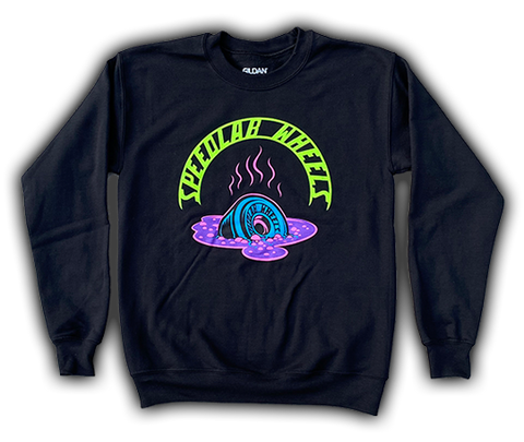 Sweatshirt 'Melting Wheel' (crew neck/black)