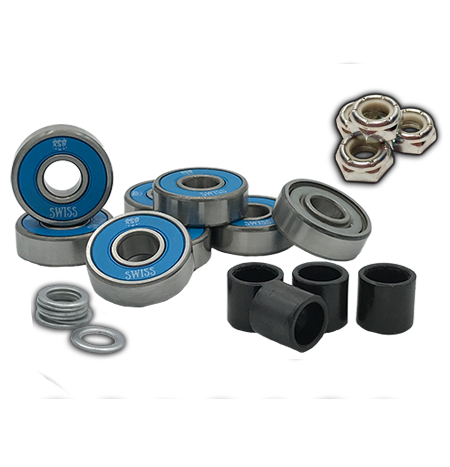 Rock Star Bearings 'Blue' Axle-to-Axle Kit = Rock Star Bearings Swiss Blue Shield bearings + Speedlab Wheels