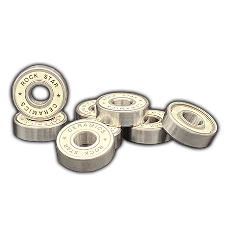 Rock Star Bearings - Ceramic White Shield