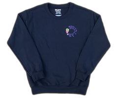 Sweatshirt 'Skull' (crew neck/navy)