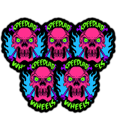 Speedlab Wheels 'Skull' Sticker Pack