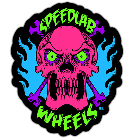 Speedlab Wheels 'Skull' Sticker