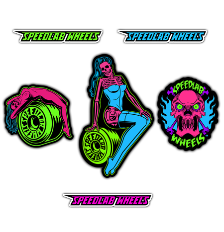 Speedlab Wheels 'Fluro' Sticker Pack