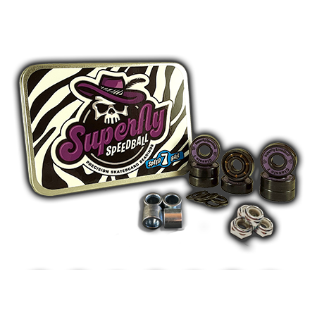 Superfly Speedball 'Classic 7' Axle-to-Axle Kit = Superfly Speedball 'Classic 7' bearings + Speedlab Wheels