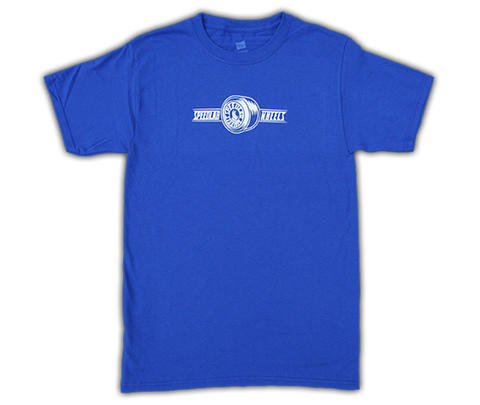 T-Shirt 'Wheel Logo' (short sleeve/Royal)