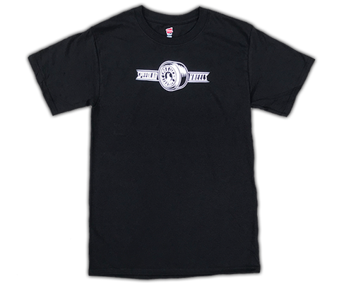 T-Shirt 'Wheel Logo' (short sleeve/Black)