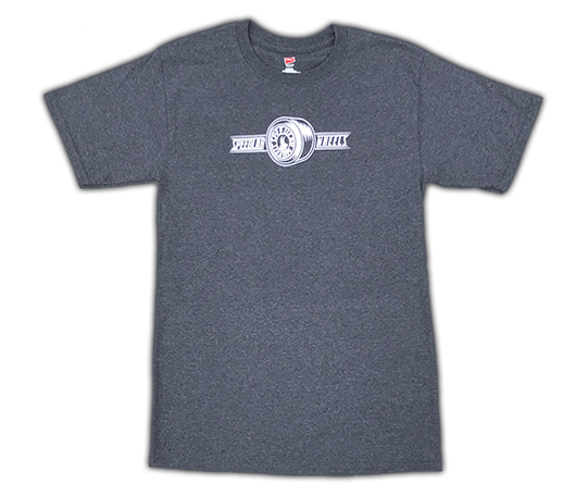 T-Shirt 'Wheel Logo' (short sleeve/Charcoal)