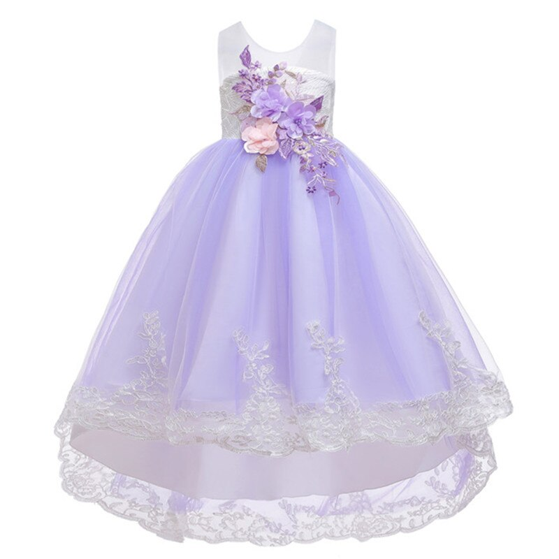 Child Infant Kids Girl Floral Long Sleeve Xmas Party Pageant Princess Tutu Dress