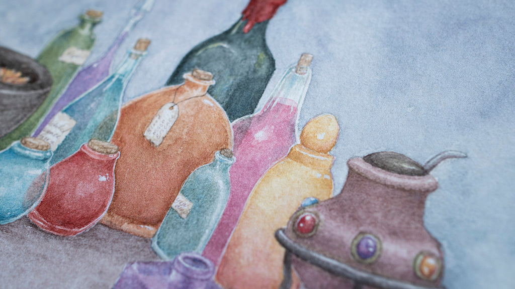 Potion Collection - Unframed Watercolour Painting