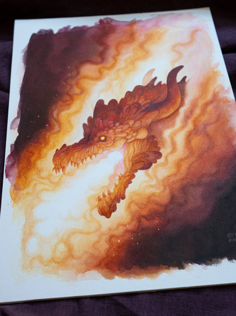Inferno - Unframed Original Watercolour Painting