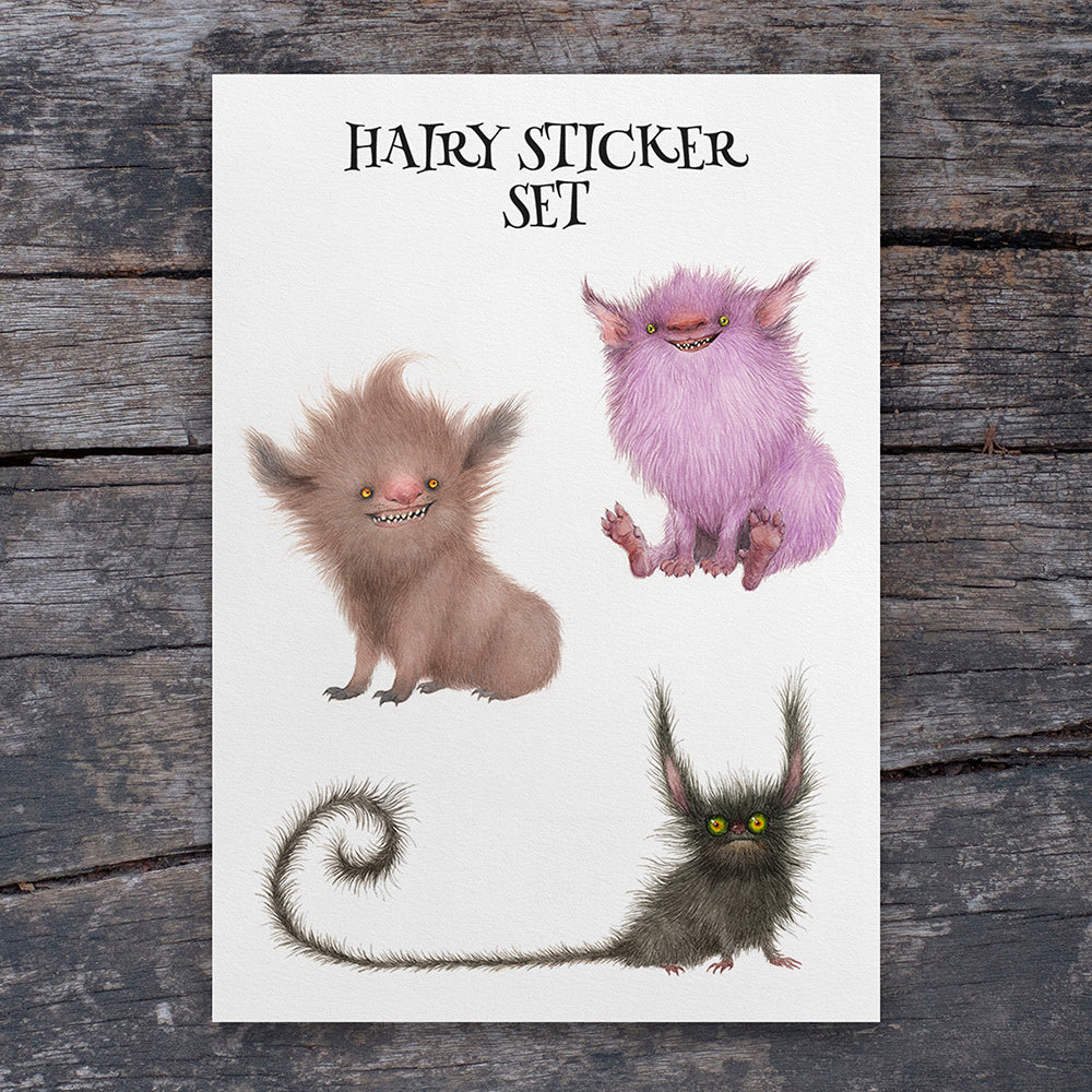 Hairy Sticker Set - A5