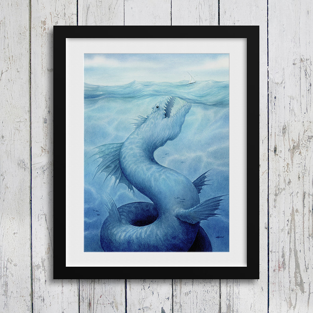 Leviathan - Unframed Original Watercolour Painting