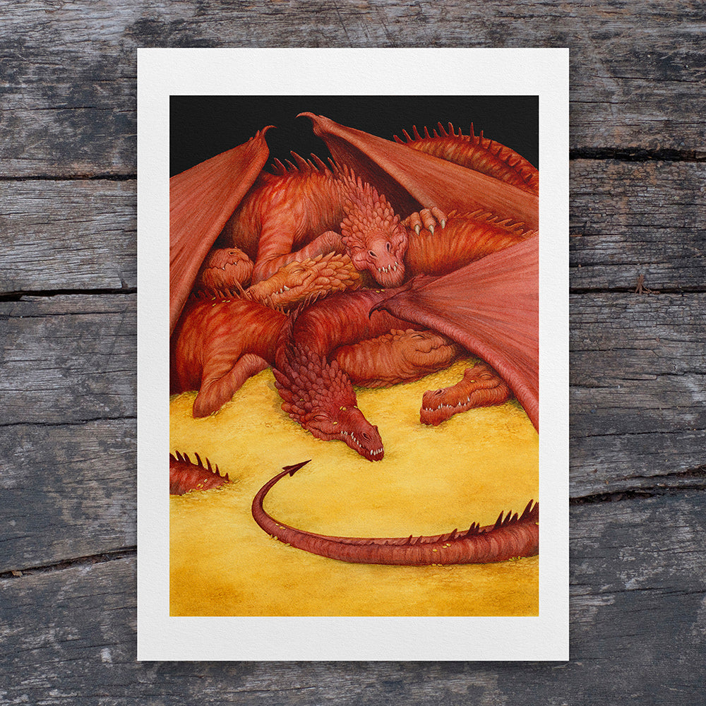 Let Sleeping Dragons Lie - A4 Art Print - ARTISTS PROOF
