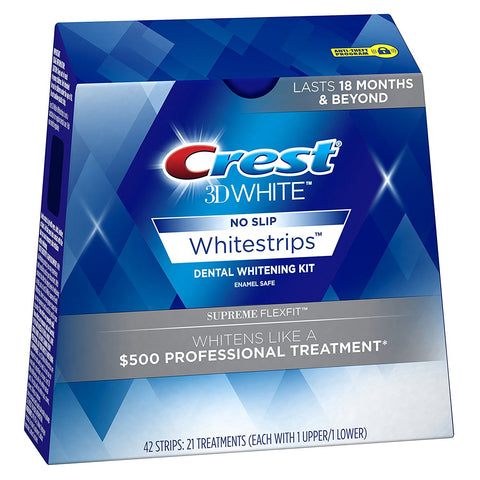 Crest 3D Whitestrips Luxe Supreme Flexfit Teeth Whitening 42 Strips - Crest Whitestrips United Kingdom