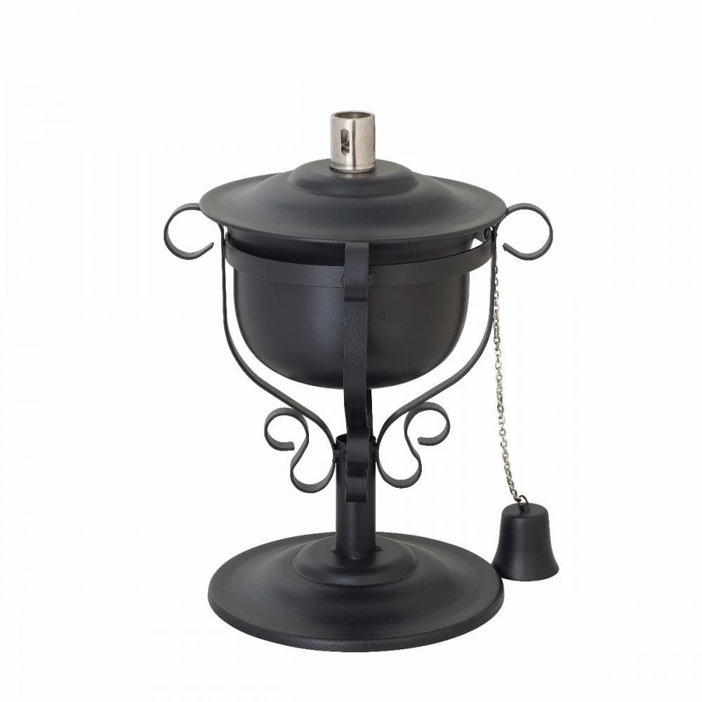 Modern Outdoor Steel Garden kerosene oil table Torch- fibreglass Wick & cap
