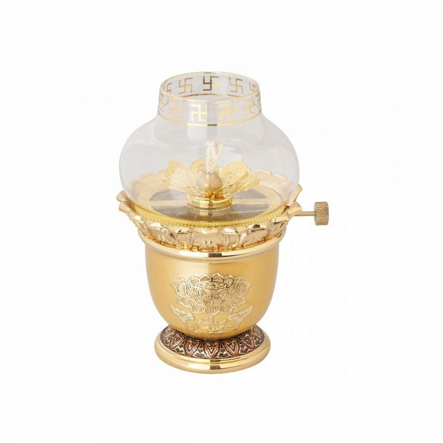 Brass 24k Gold plated oil lamp, Hand Crafted Home deco