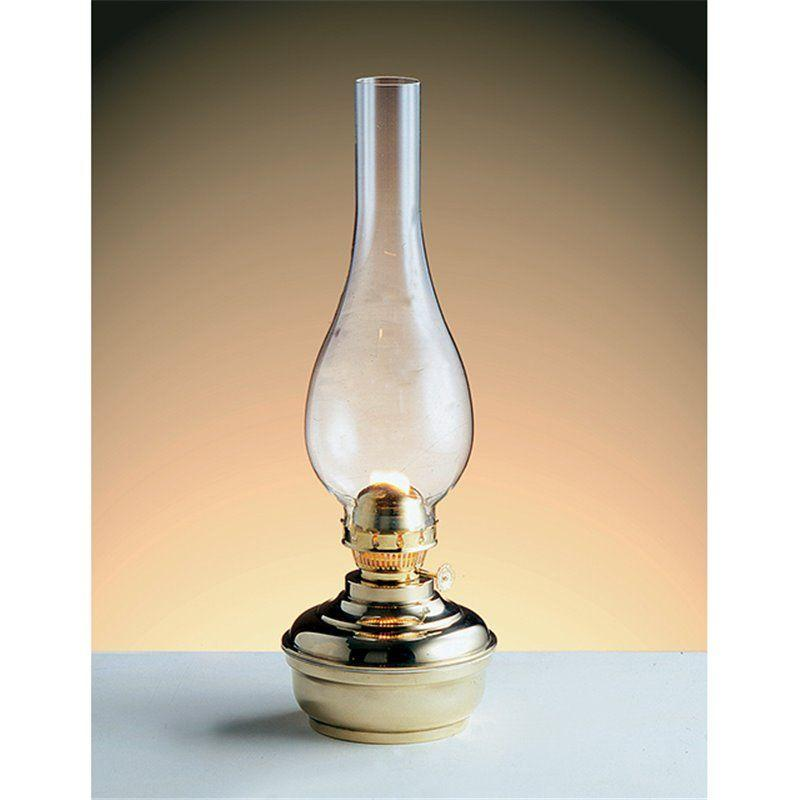 Brass Kerosene Oil Table Lamp - Made In Italy