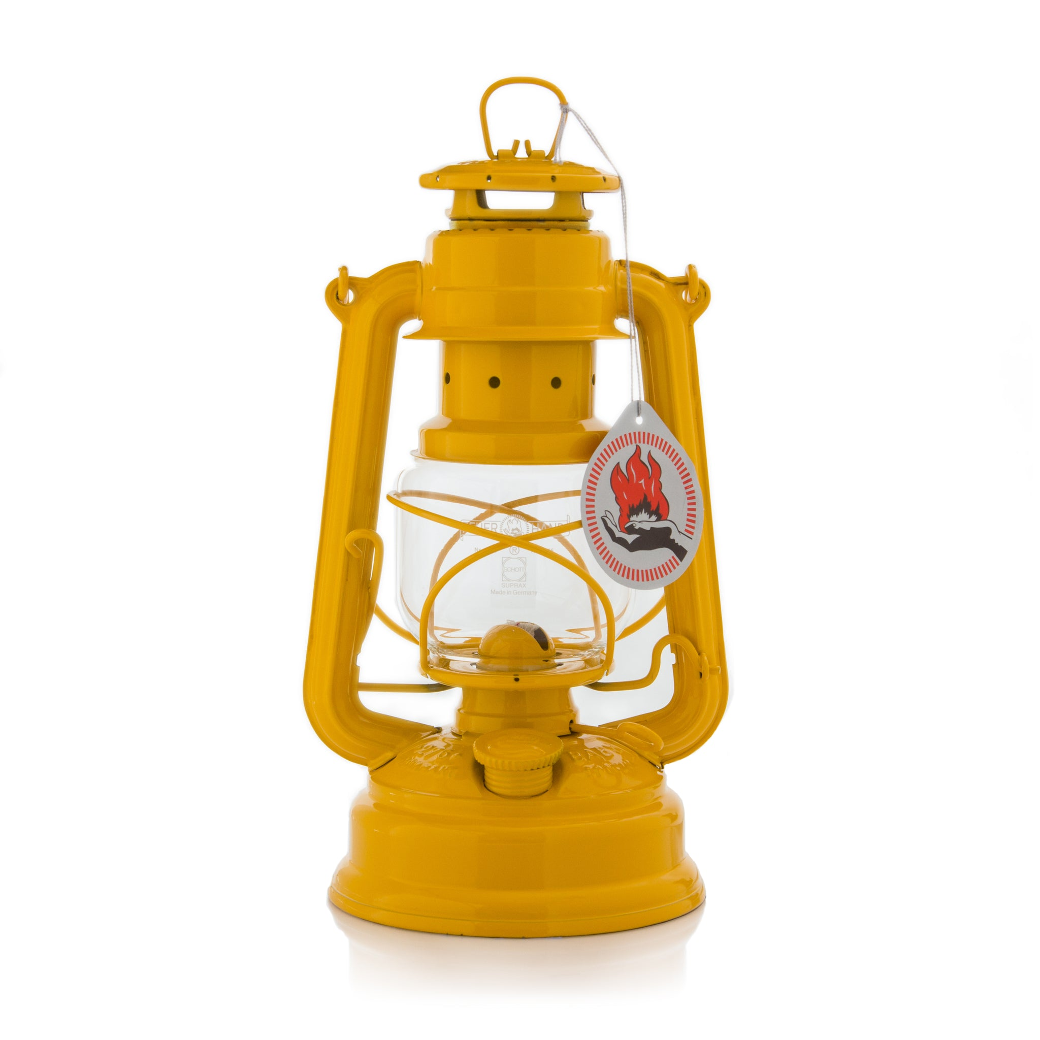 ORIGINAL FEUERHAND HURRICANE KEROSENE OIL CAMPING OUTDOOR LANTERN LAMP - YELLOW