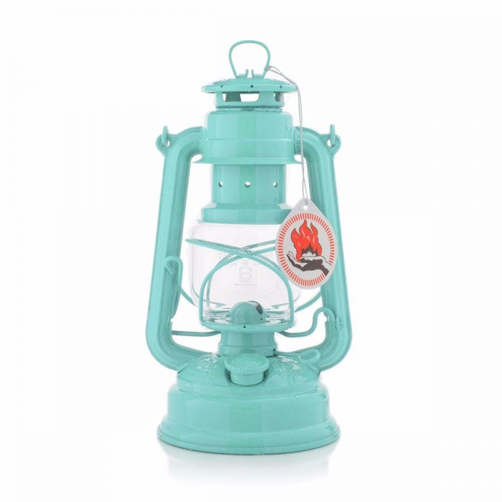 Original Feuerhand Hurricane Kerosene oil Camping outdoor Lantern lamp - light green