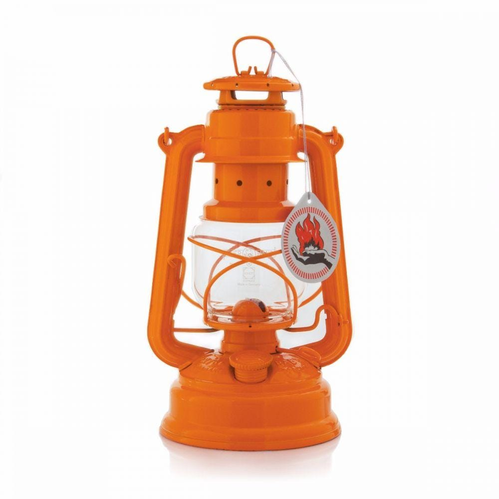 Original Feuerhand Hurricane Kerosene oil Camping outdoor Lantern lamp - Orange