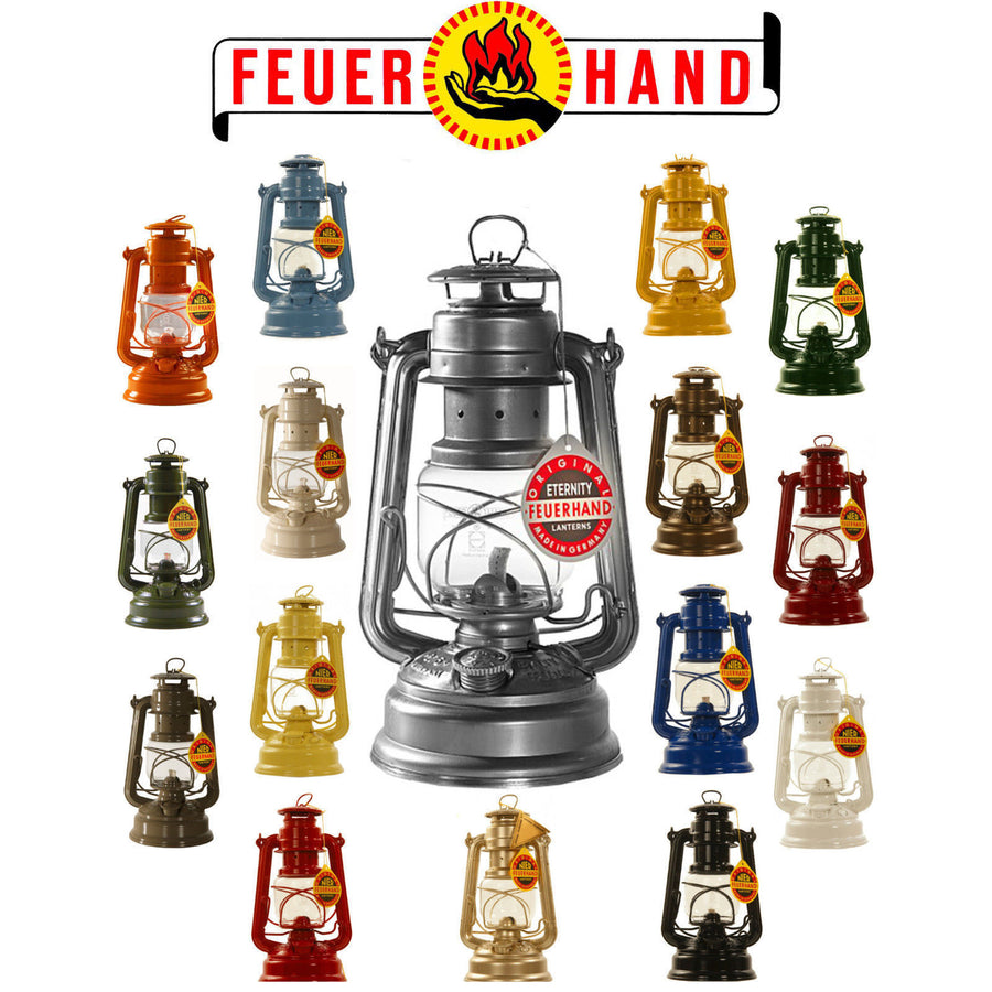 Original Feuerhand Hurricane Kerosene oil Camping outdoor Lantern lamp lighting- sparkling Iron