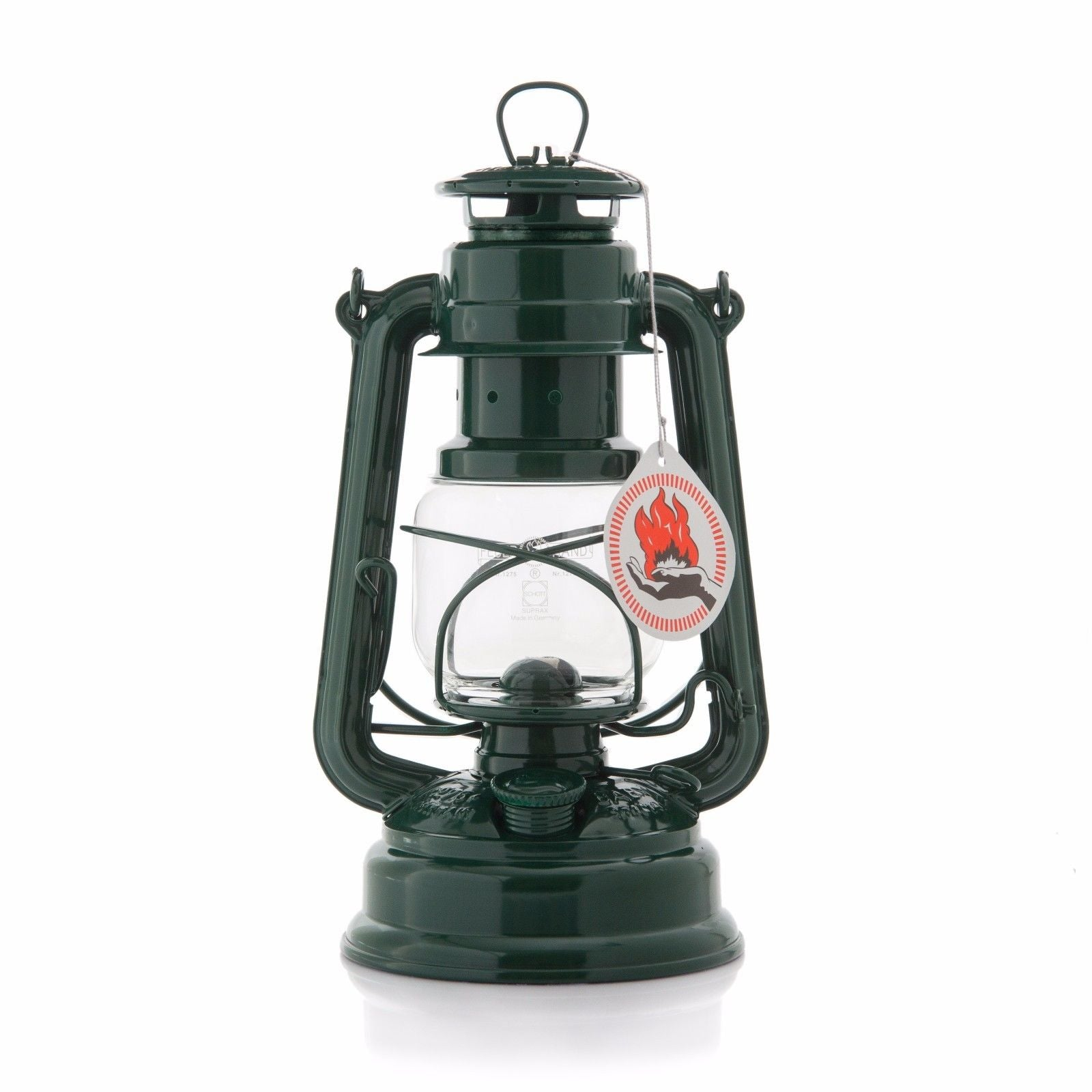 ORIGINAL FEUERHAND HURRICANE KEROSENE OIL CAMPING OUTDOOR LANTERN LAMP - MOSS GREEN