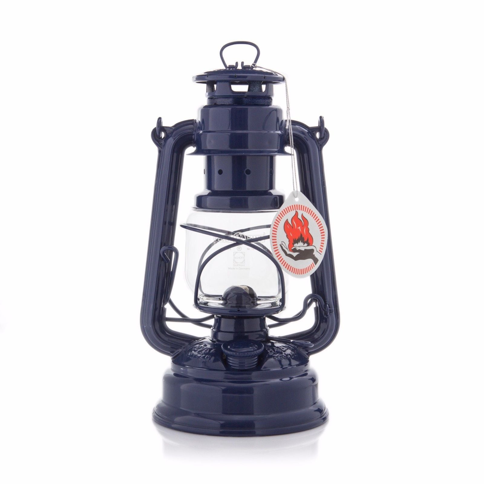 ORIGINAL FEUERHAND HURRICANE KEROSENE OIL CAMPING OUTDOOR LANTERN LAMP- BLUE